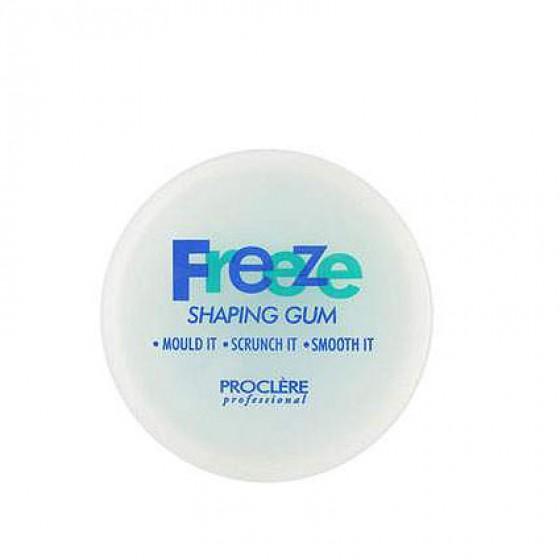 Freeze shaping gum