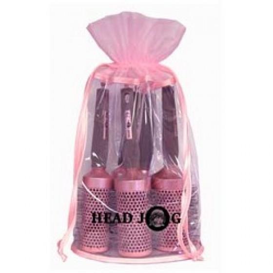HeadJog Pink ceramic Brush set