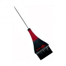 Metal tail tinting brush