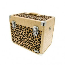 Leopard effect beauty case