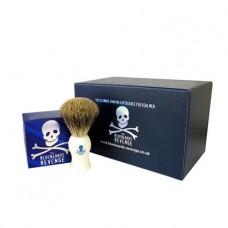 Shaving Cream and Badger Brush Gift Set (White or Pink)