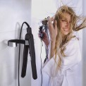Hair dryer and straightener holder