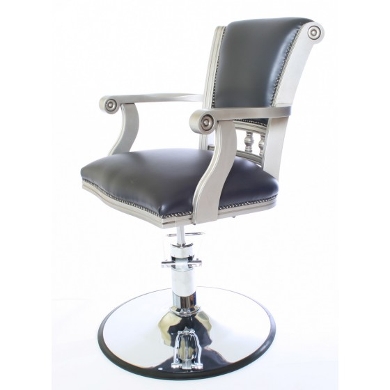 WBX Pompadour Styling Chair with Disc Base side view