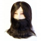 Gents training head with beard