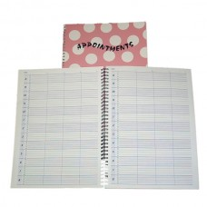 Pink Poker dot appointment binder
