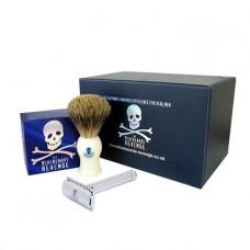 Shaving Cream, Brush and Double Edge Razor Gift Set (Gift Boxed)